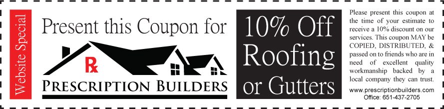 Blaine MN Gutters Coupon